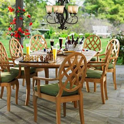 smith hawken outdoor teak furniture curated