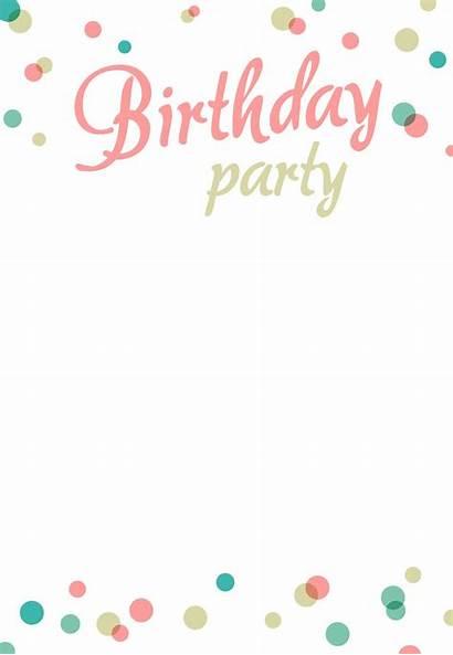 Invitation Birthday Printable Party Invitations Templates Template