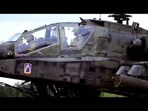 Nice Up-Close (And Loud) HD Look At A U.S. Army Apache Helicopter Landing During 'Saber Strike'
