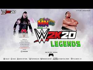 WWE 2K20 Amazing Legends Roster for PS4 and X box One wishlist