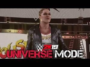 """WWE 2K19 Universe Mode - Ep 2 - """"TLC 2018 PPV! RONDA ROUSEY VS NIA JAX! AJ STYLES VS DANIEL BRYAN"""""""