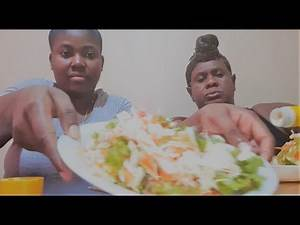 JAMAICAN RAW VEGETABLE SALAD MUKBANG (DISCUSSION TOPIC: STAY IN THE HURT OR CRY YOURSELF TO SLEEP)