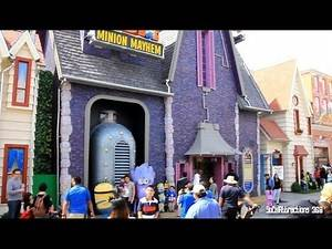 [HD] Tour of Despicable Me Land Ride Area - Universal Studios Hollywood