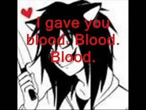 My Chemical Romance - Blood Lyrics | Jeff the Killer