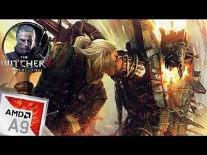 AMD A9 9400 (9420) The Witcher 2 Gameplay Low End PC (Radeon R5 Graphics)