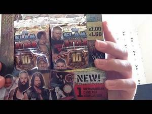 WWE Slam Attax 10th Edition Booster Box 8 Pack Opening Live Stream!!!!