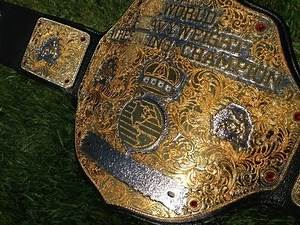 Real WCW Style World Heavyweight Championship Belt WWE