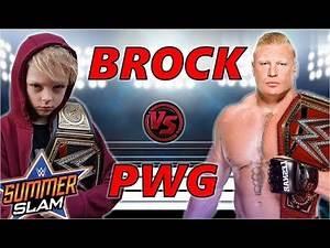 BROCK LESNAR VS PRINCEWILLGAMER WWE SUMMERSLAM - WWE 2K19 2K20