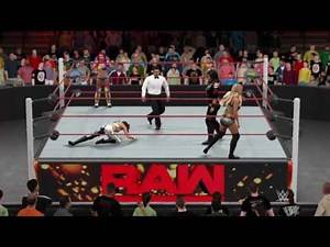 WWE 2K17 RAW Bayley and Sasha Banks vs Charlotte and Nia jax