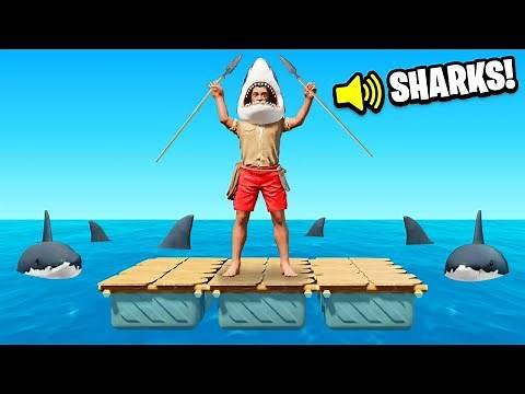 TRYING TO SURVIVE AT SEA Challenge (Raft)