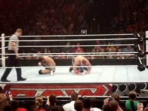 8-1-11 After WWE RAW OFF AIR CM PUNK VS John Cena