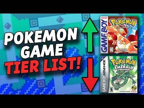 Pokemon Games Tier List! (Ranking Each Pokemon Game)