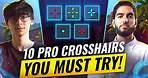 Want INSANE AIM? Try These 10 PRO Crosshairs! - Valorant