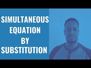 How to solve simultaneous equations step by step using substitution method | SOMA ACADEMY