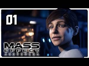 Let's Play Mass Effect Andromeda Blind Part 1 - First Hour [Mass Effect Andromeda PC Gameplay]