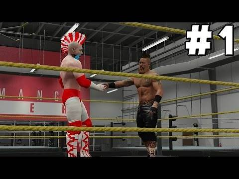 WWE 2K16 My Career Mode Walkthrough Part 1 - First Match, Choosing Finisher & Signatures
