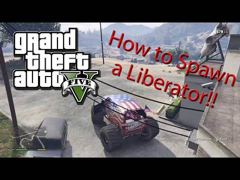 How to Spawn a Liberator (Monster Truck) on GTA 5 Story Mode! (Tips & Tricks)