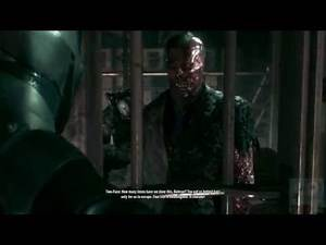 Batman: Arkham Knight - Two-Face in Prison (Cutscene)