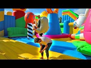 Worlds Largest Bounce House Game Of F.L.I.P.