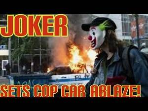 Joker Masked Man Facing Federal Charges for Stuffing Lit Item in Police Car Gas Tank