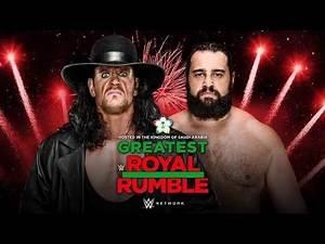 Undertaker vs. Rusev at WWE Greatest Royal Rumble