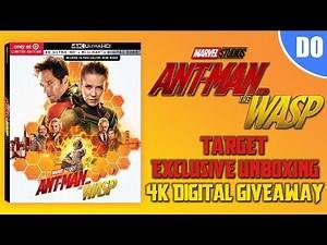 Ant-Man and the Wasp Target Exclusive 4K Ultra HD Blu ray Unboxing and 4K Digital Giveaway