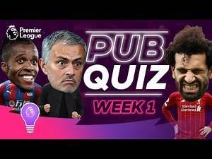 How good is your Premier League Trivia? | #PLPubQuiz Episode 1