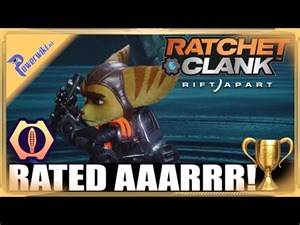 Ratchet & Clank Rift Apart - Rated Aaarrr! - Gold Trophy 🏆 - Feed Bubbles
