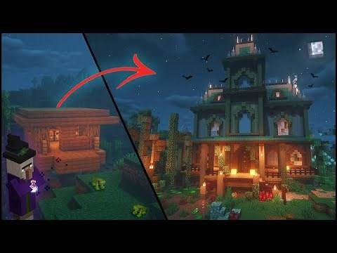 Transforming a Witch Hut | Swamp Biome Minecraft Timelapse