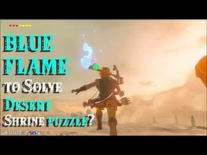 Using BLUE FLAME to Solve Desert Shrine puzzle?! Saturday in Zelda Breath of the Wild