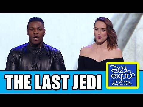 Star Wars THE LAST JEDI PANEL D23 Behind The Scenes Trailer