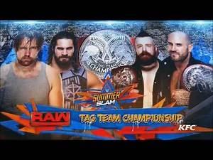 WWE SummerSlam 2017: Sheamus & Cesaro vs. Dean Ambrose & Seth Rollins - Official Match Card
