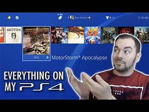 What's on my PS4? (My Favorite Games, Services, Hard Drive Choice, Trophies, etc.)