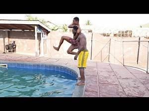 wwe Africa pool side try not to laugh #wweAfrica Batista vs Undertaker. Randy Orton vs Seth Rollings