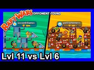 How to play Raft Wars Multiplayer - Lvl11 vs Lvl6 - poki.com