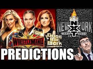 WWE WrestleMania 35 & NXT TakeOver PREDICTIONS | John Oliver