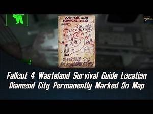 Fallout 4 Wasteland Survival Guide Location - Diamond City Permanently Marked On Map