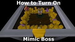 How to turn Mimic Boss On in OSRS / Where to find the Strange Casket