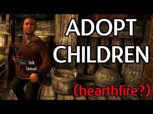 Skyrim Mods - Adopt A Child (Hearthfire?)