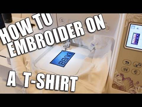 How to embroider on a t-shirt