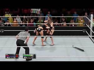 WWE 2K17_Lita vs. Stephanie McMahon-Helmsley_Falls Count Anywhere match