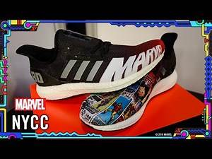 Unveiling the new Adidas x Foot Locker Sneakers for Marvel at NYCC 2019!