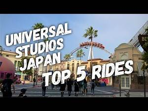 TOP 5 THRILL RIDES - UNIVERSAL STUDIOS JAPAN!