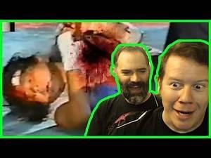 WRESTLER GETS GUTTED DEATHMATCH! (Steve and Larson React)