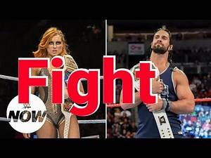 Becky Lynch fight with Seth Rollins