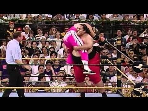 Yokozuna defeats Bret Hart at WrestleMania IX