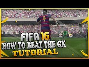 FIFA 16 HOW TO BEAT THE GOALKEEPER TUTORIAL / How to GLITCH the GK & Dribble Past him TIPS & TRICKS