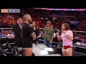 WWE RAW 10/21/2013 Highlights/Results: Daniel Bryan Randy Orton Contract Signing