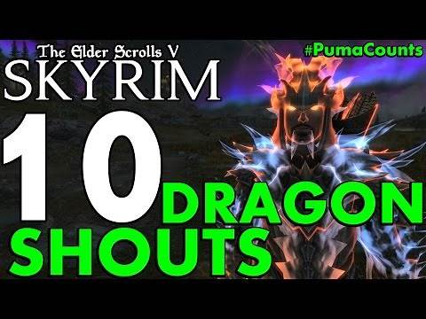 Top 10 Best Dragon Shouts in Skyrim Remastered (Special Edition) #PumaCounts