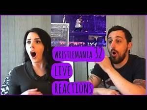 WWE WRESTLEMANIA 32 LIVE Reactions